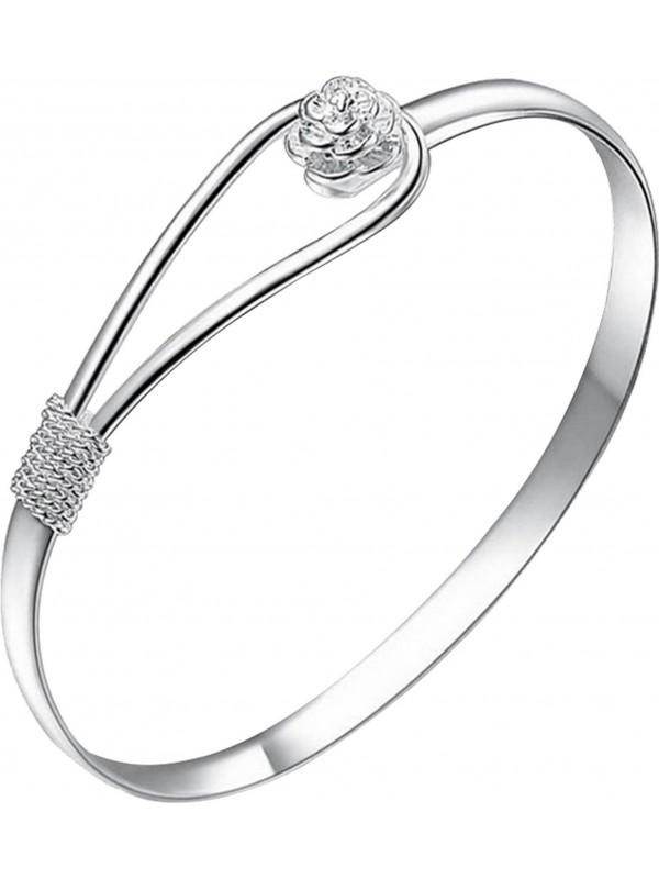 Bracelet silver rose