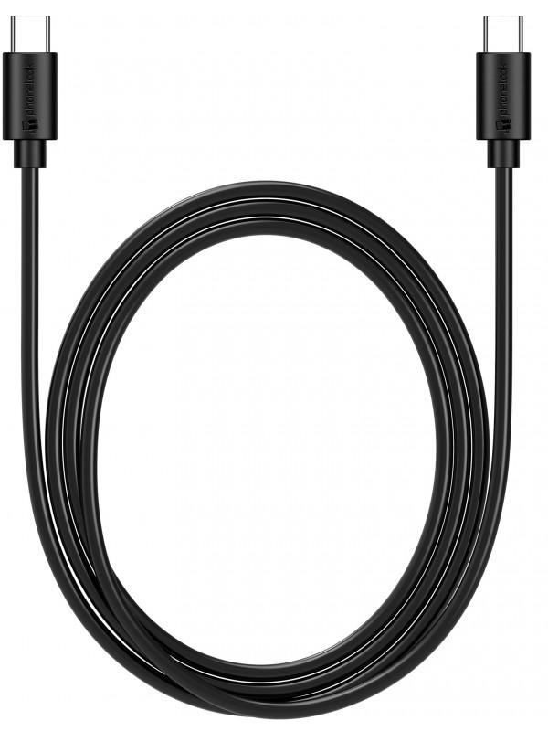 Câble USB-C vers USB-C (1 m) noir PhoneLook
