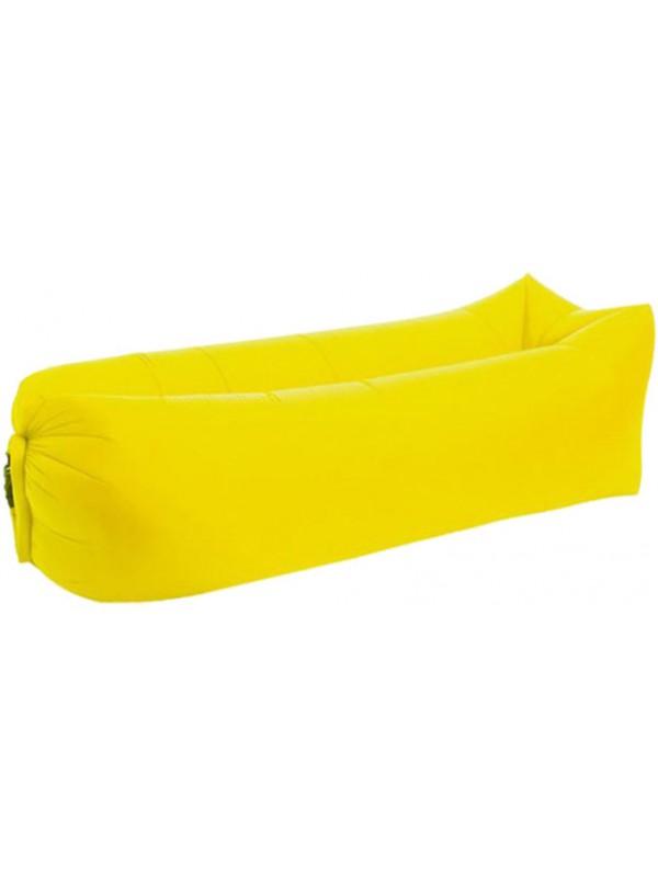 Canapé gonflable jaune