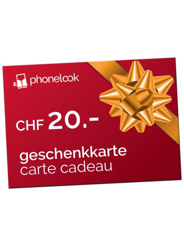 Carte cadeau CHF 20.-