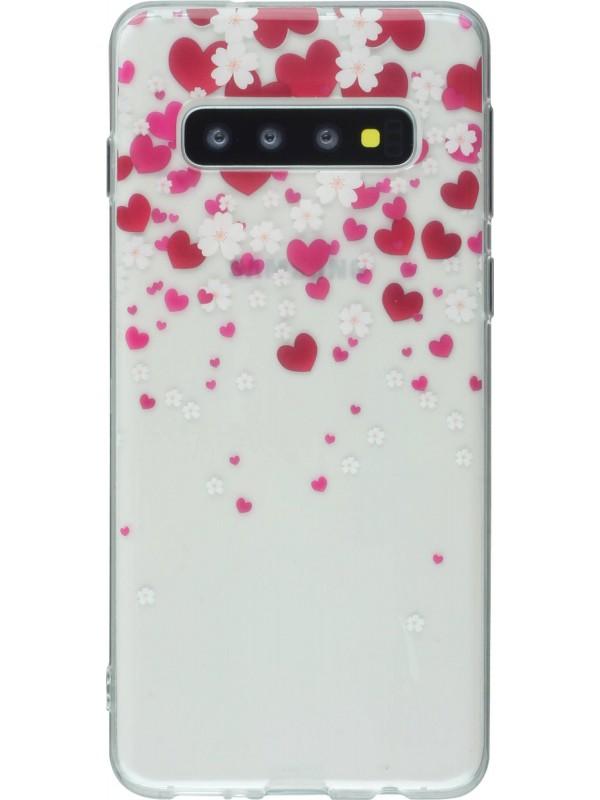 Coque Samsung Galaxy S10e - Gel coeurs