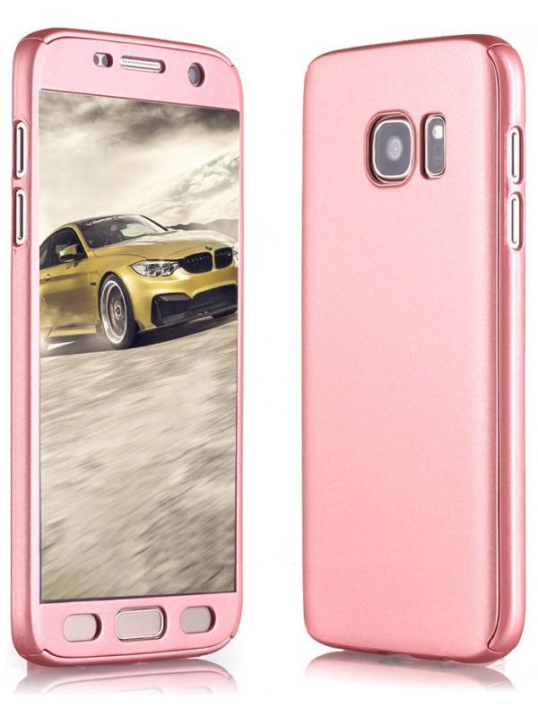 Coque Samsung Galaxy S7 edge - 360° Full Body or rose