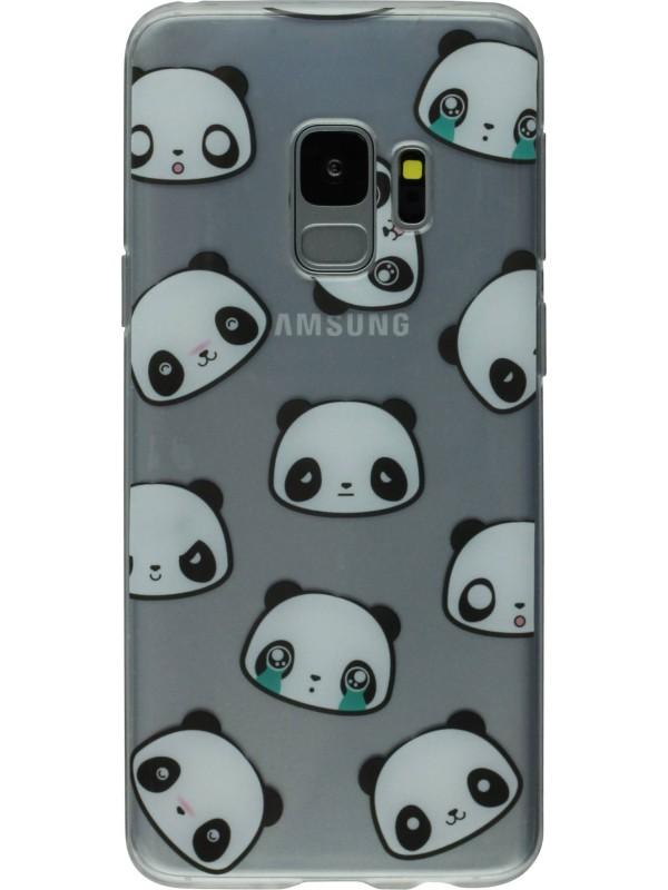 Coque Samsung Galaxy S9+ - Clear têtes pandas