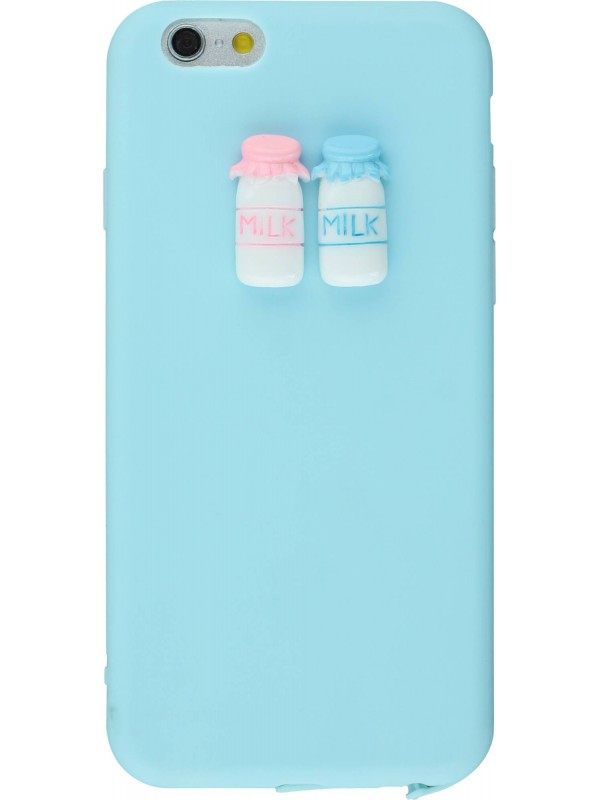 Coque iPhone 6/6s - 3D Milk bleu