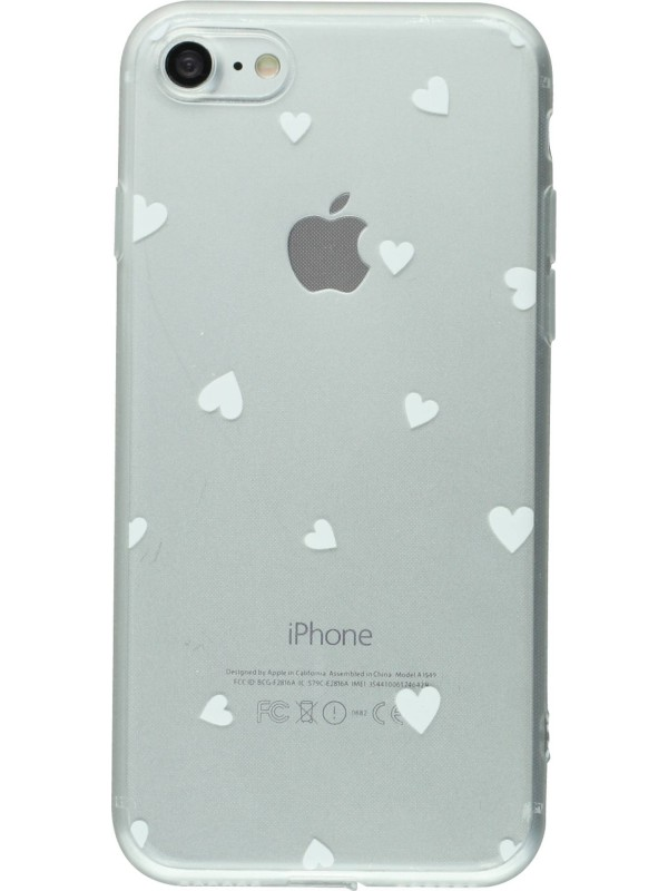 coque iphone 7 8 gel petit coeur blanc. Black Bedroom Furniture Sets. Home Design Ideas