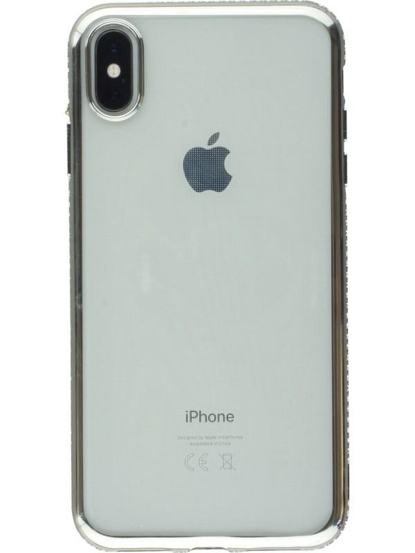 Coque iPhone Xs Max - Bumper Diamond argent
