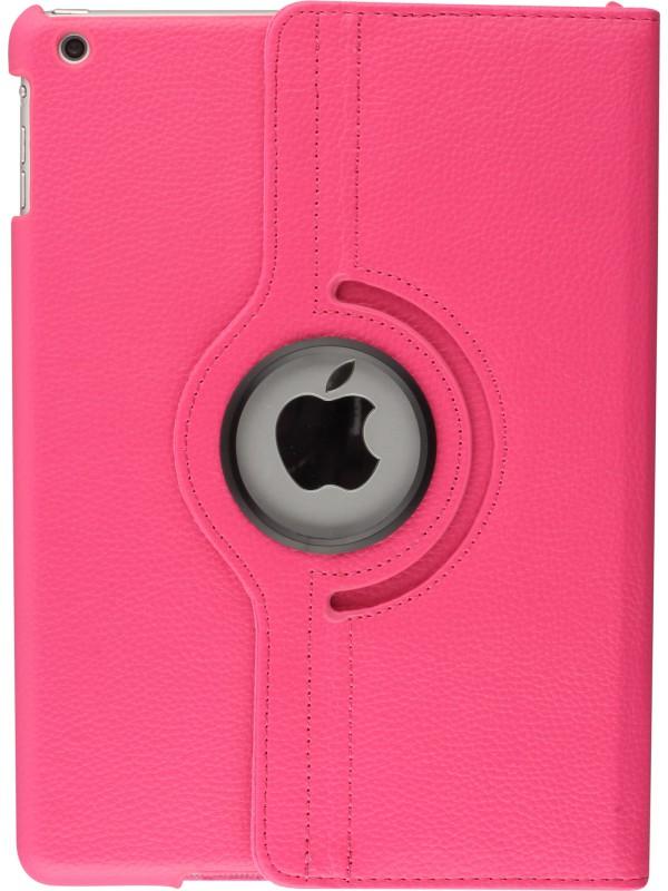 "Etui cuir iPad Pro 12.9"" - Premium Flip 360 rose foncé"