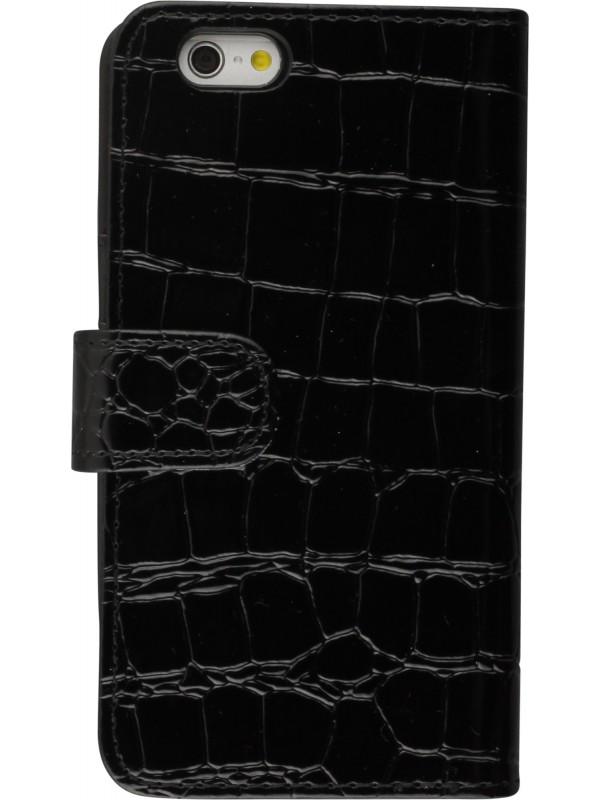 Fourre Samsung Galaxy S7 edge - Flip croco noir