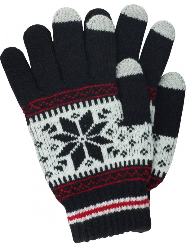 Gants tactiles Snow noir