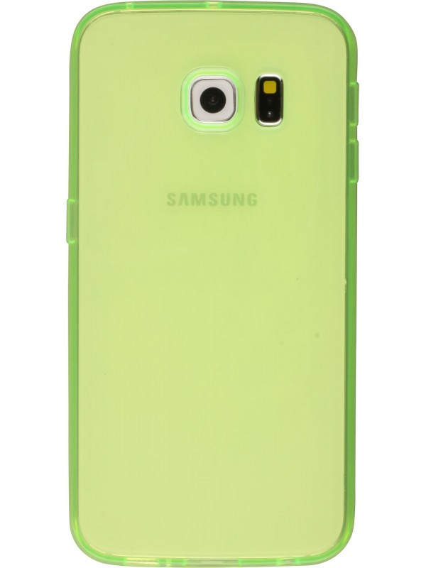 Housse Samsung Galaxy S6 edge - Gel transparent vert
