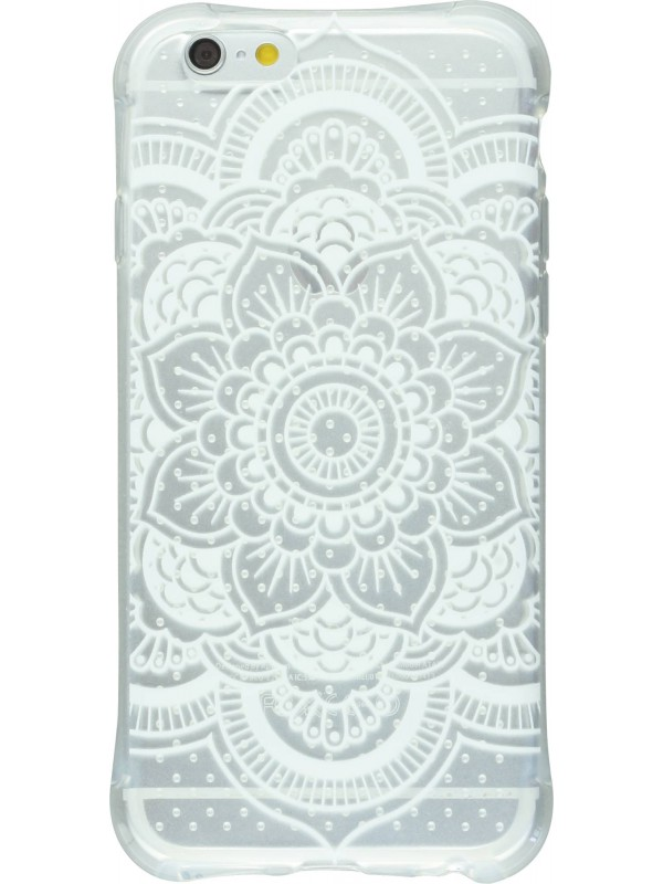 Housse Samsung Galaxy S6 edge - Clear Dots Henna White Flower transparent
