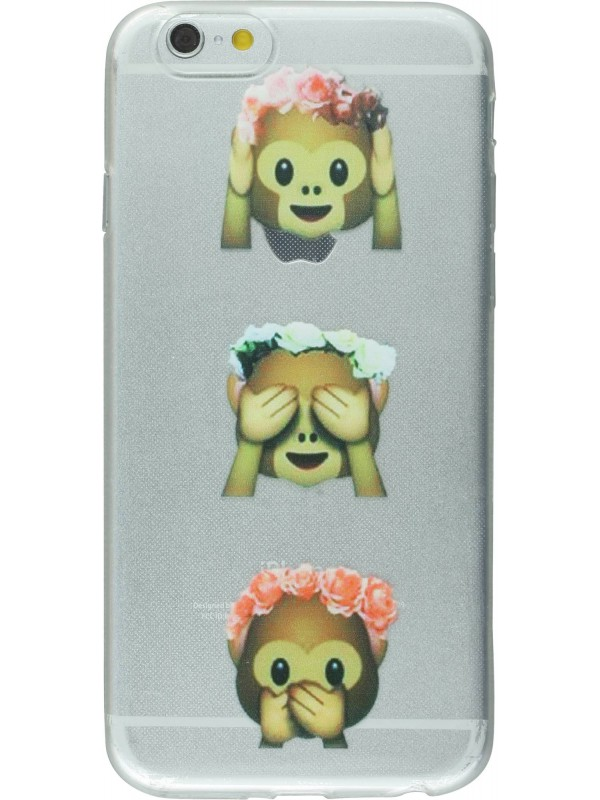 Housse iPhone 4/4s - Emoji 3 monkey