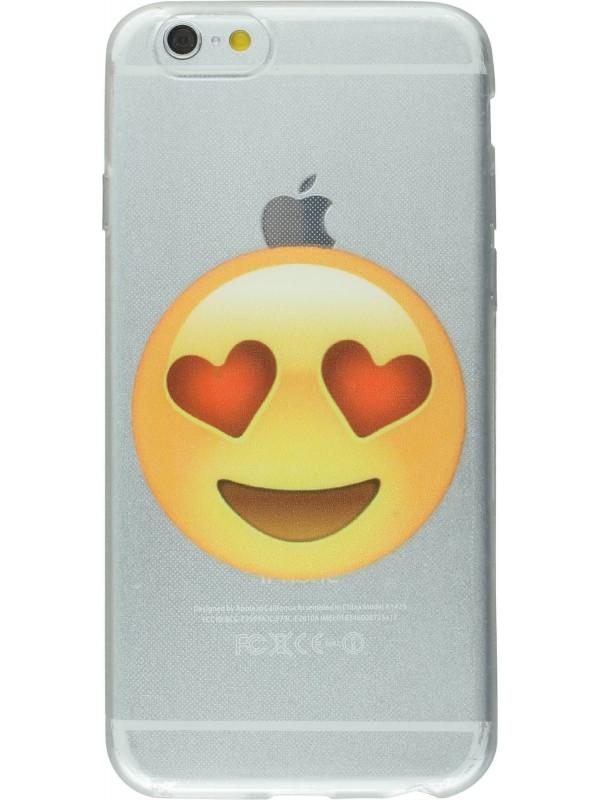Housse iPhone 6/6s - Emoji yeux coeurs