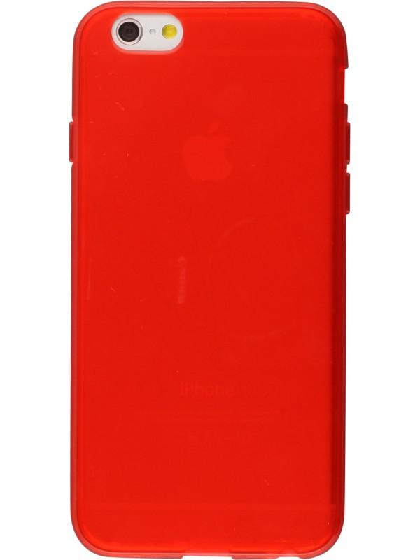 Housse iphone 7 plus 8 plus gel transparent rouge for Housse iphone 8