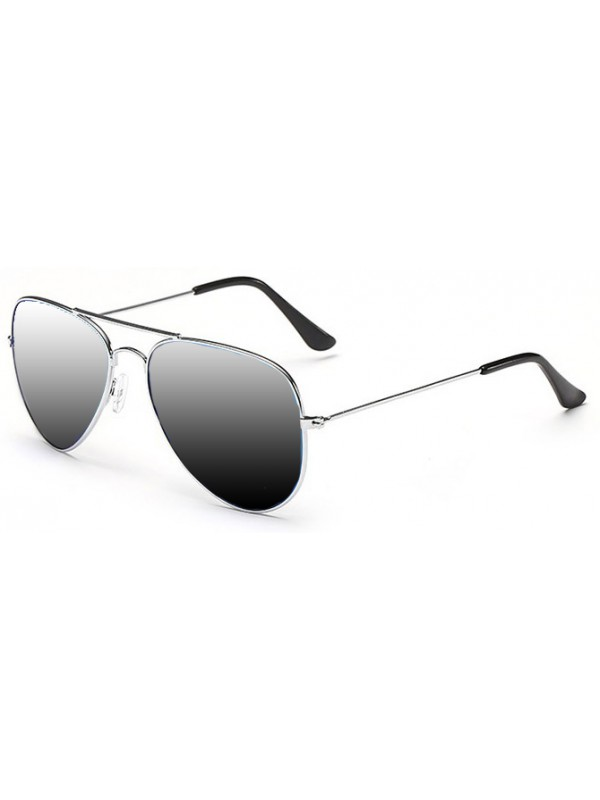 Lunettes style Aviator argent
