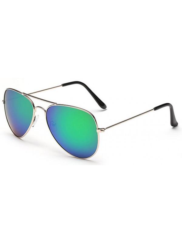 Lunettes style Aviator bleu vert