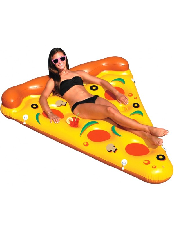 Matelas pizza gonflable