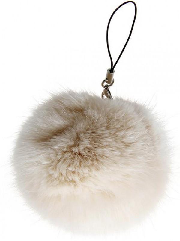 Porte-clés Mini Fluffy beige
