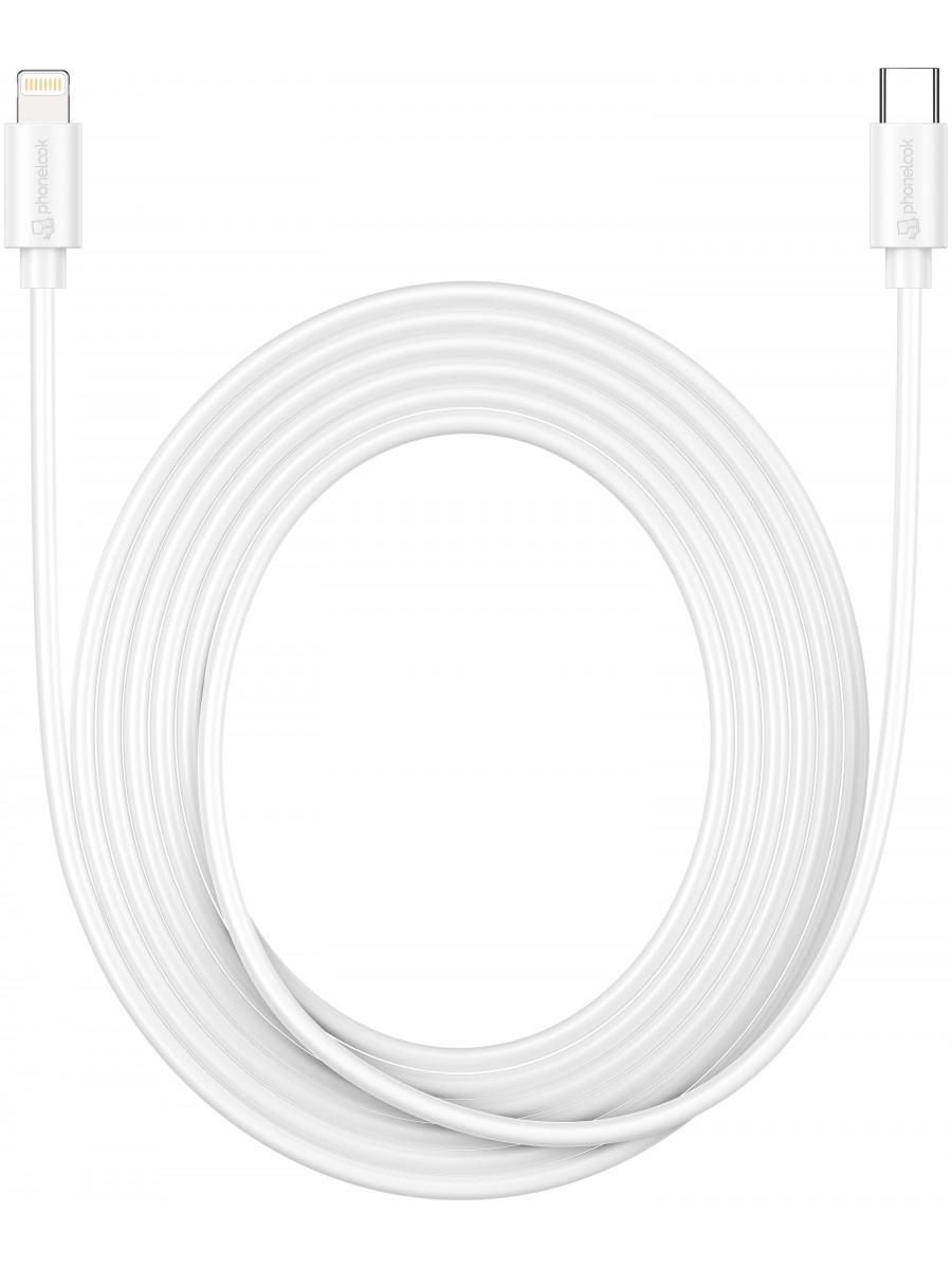 Câble (3m) USB-C vers Lightning iPhone - PhoneLook blanc