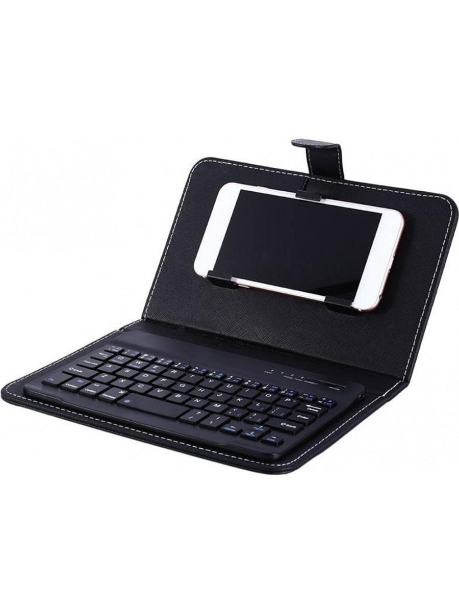 Étui universel pour smartphone avec clavier Bluetooth amovible noir